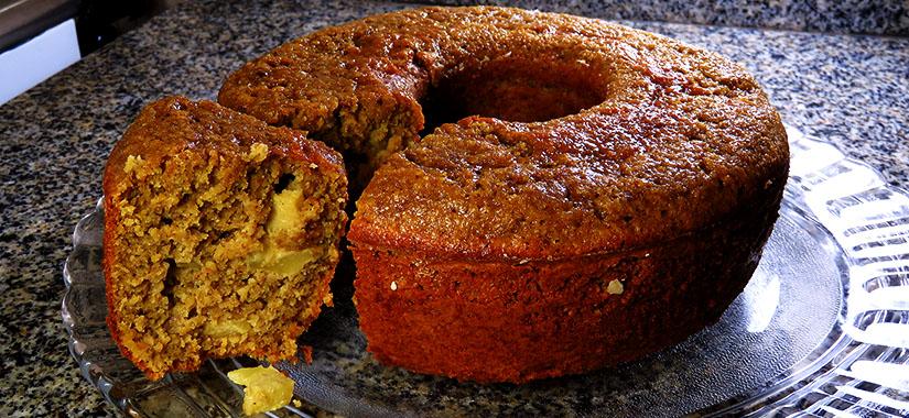 como fazer bolo integral aveia e maçã