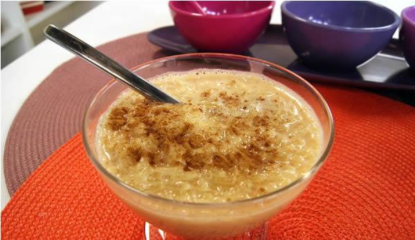 arroz doce com aroma de laranja