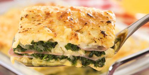 massa de lasanha,queijo brócolis temperos