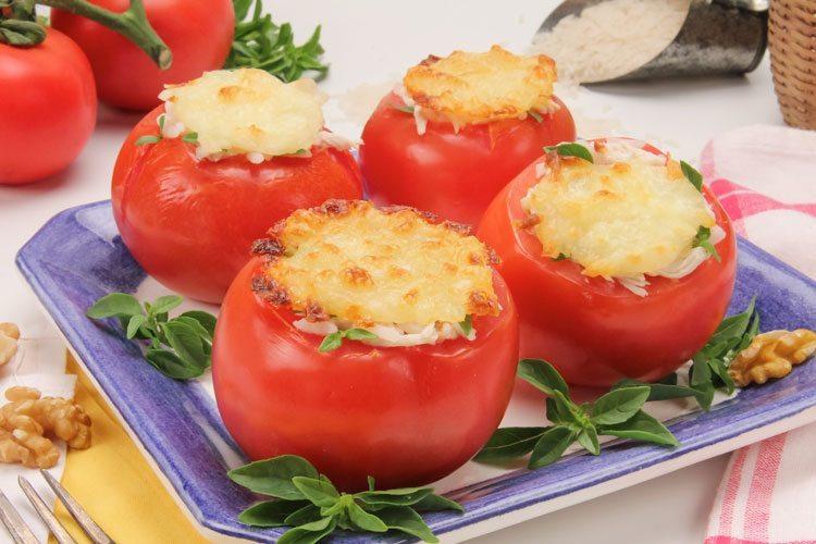 tomate gratinado queijo tempero