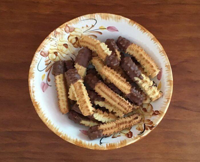 biscoito de coco com chocolate